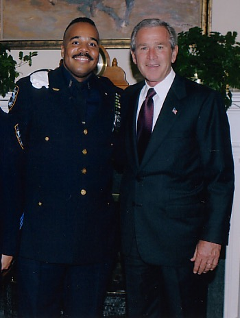 Marvin with President Bush